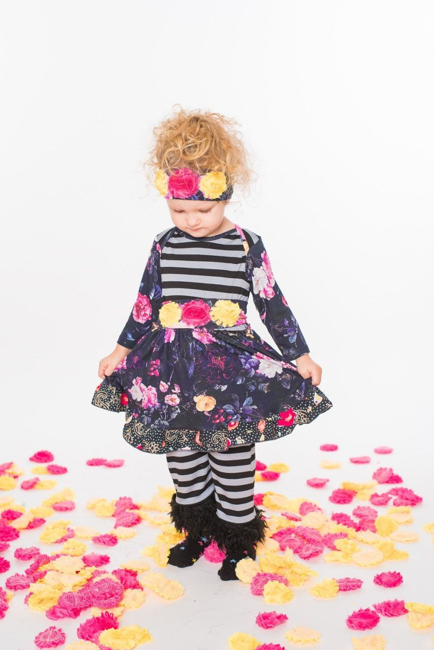 ZaZa Couture Beying Flower Pant Set