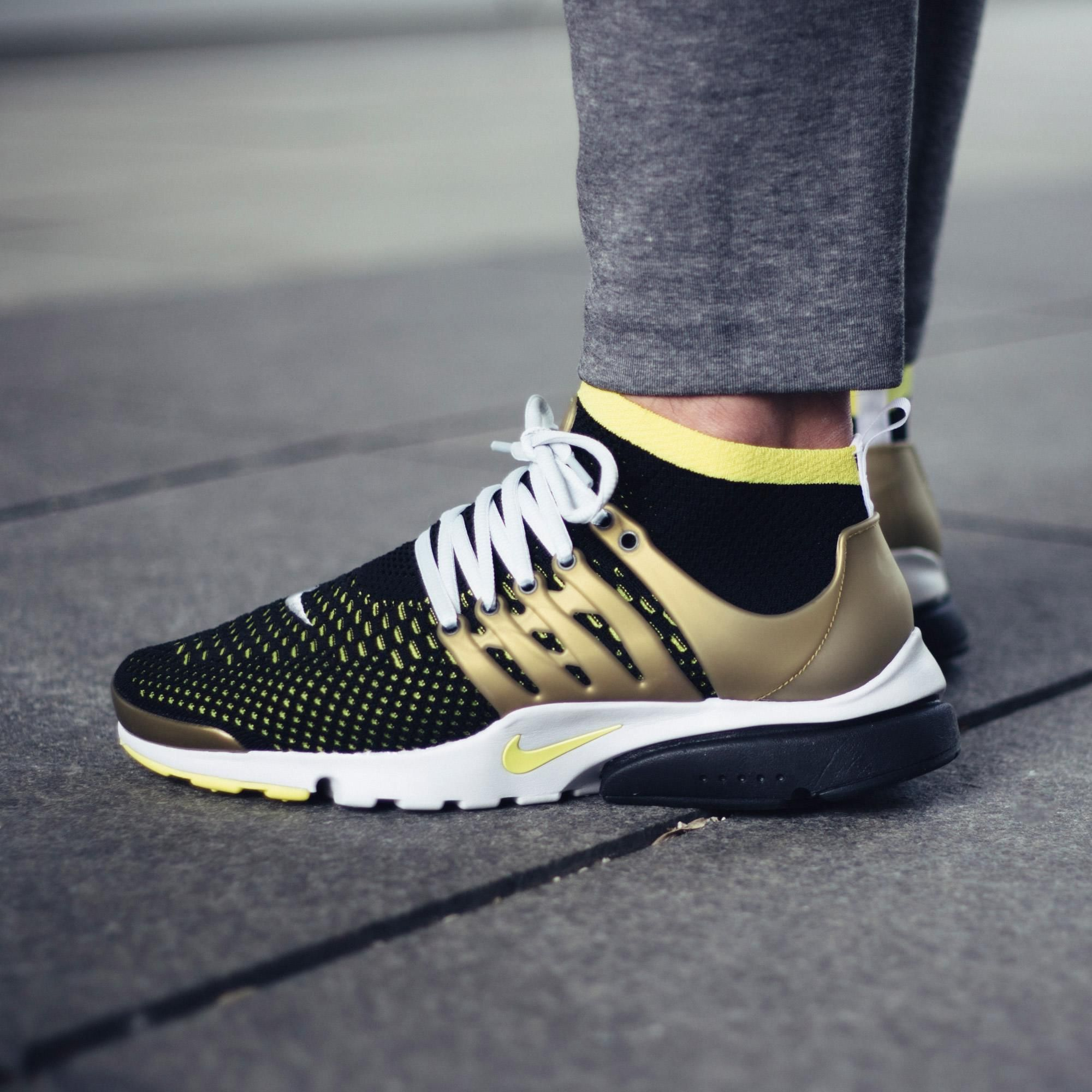 4c812320fcc3 Another Look At The Nike Air Presto Flyknit Ultra Black   Yellow   Gold