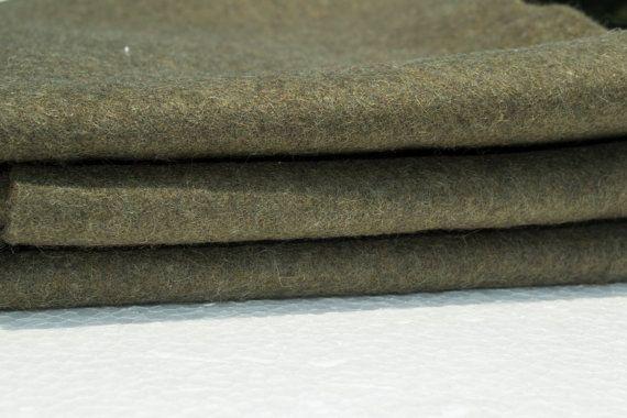 Olive Green Felt Fabric Wool Felt By The Yard By Fabworldfabrics