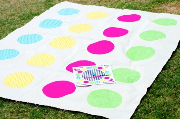 Twister game for my nephew..I made it for under $10 using pillow cases and fabric in traditional colors from Goodwill and craft store coupons for the bonding fabric. So cute!!