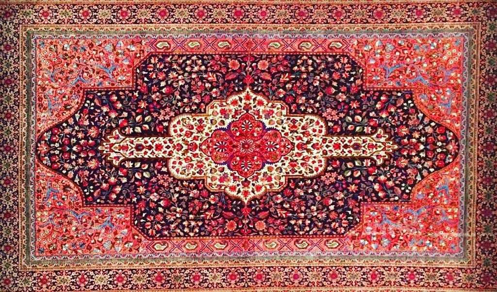 This in by master weaver Asghar Arslani is semi  It's many include shades of and  Size 150 x 100 cm    Available for purchase from our showroom today.