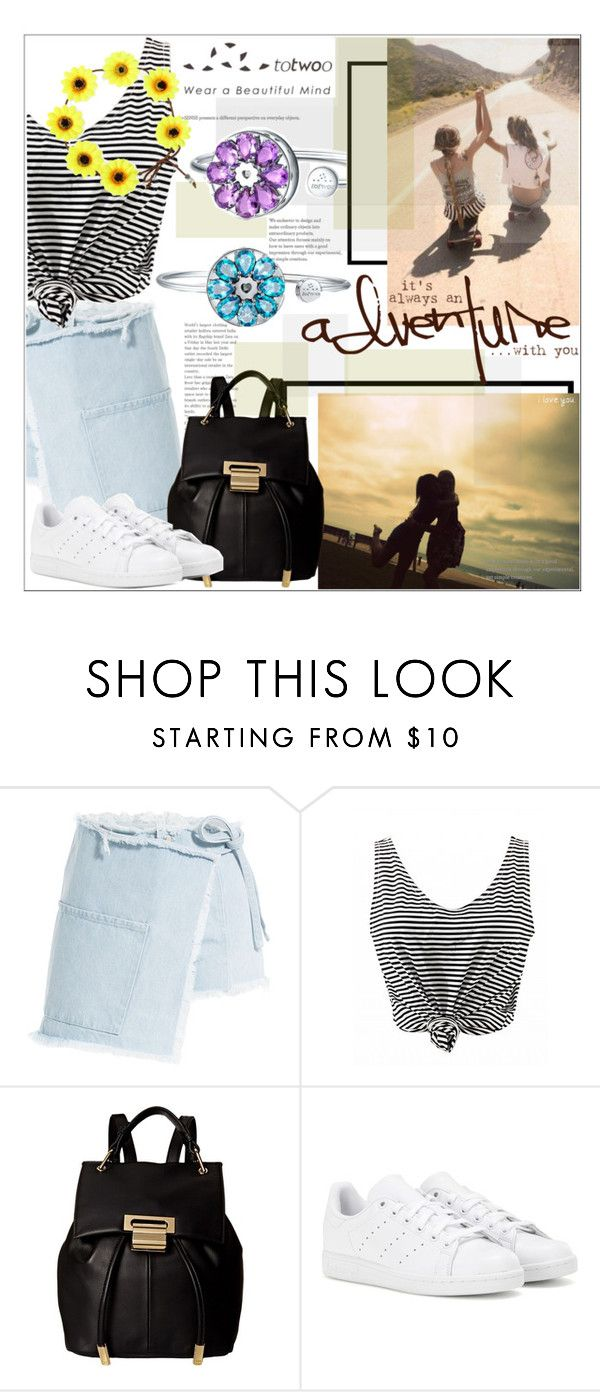 """""""Bestfriends"""" by mycherryblossom ❤ liked on Polyvore featuring Sandy Liang, Ivanka Trump, adidas, BestFriends, polyvoreeditorial, polyvorestyle and totwoo"""