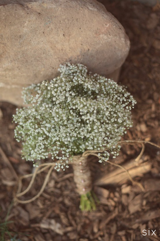 THIS JUST IN. my mom had baby's breath and white roses for her bouquet. she still has it after 26 years. BJ got me a bouquet of baby's breath when he proposed. all that to say, i want to incorporate baby's breath into my bouquet. :)