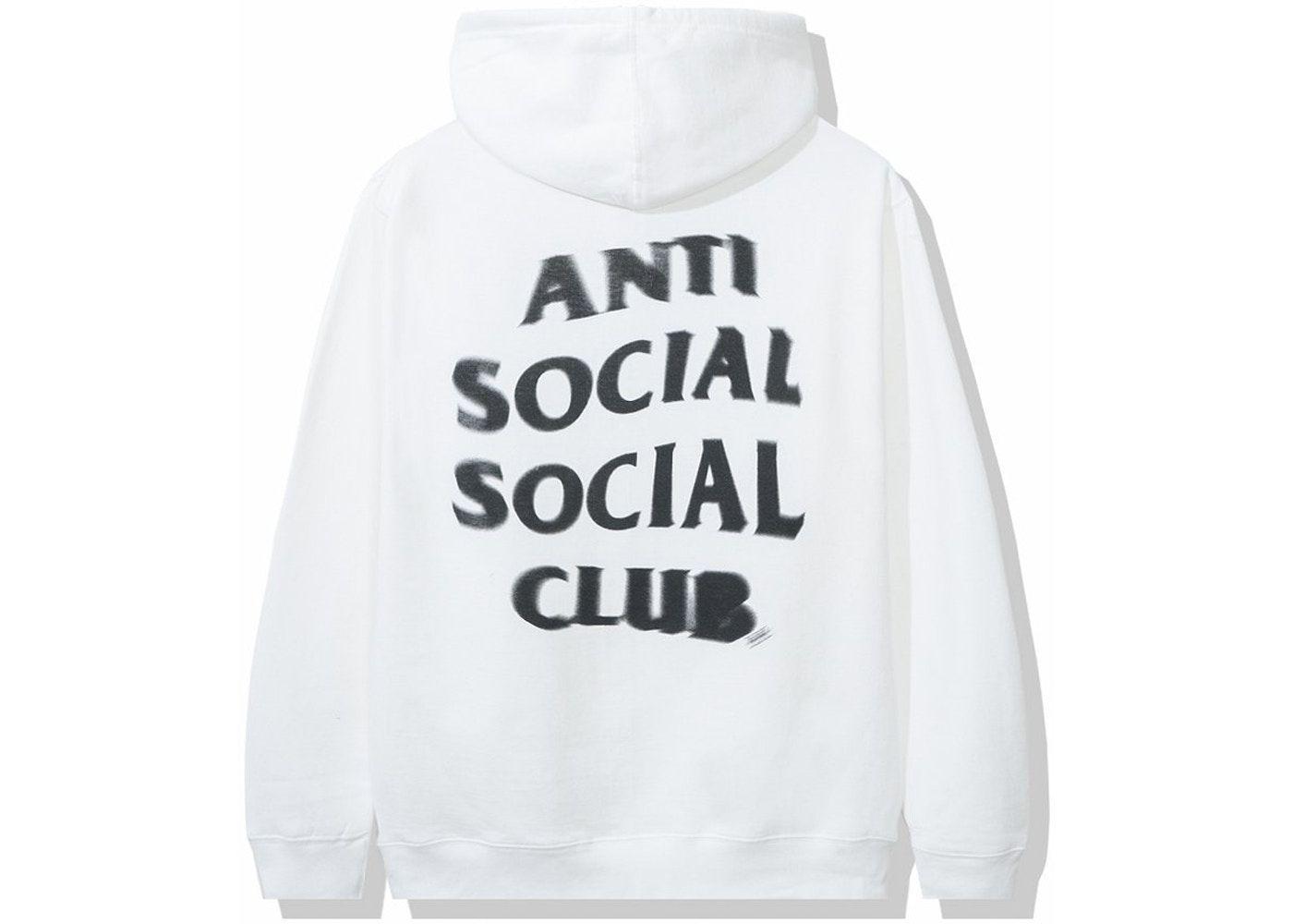 Anti Social Social Club Spiral Hoodie White White Hoodie Anti Social Anti Social Social Club