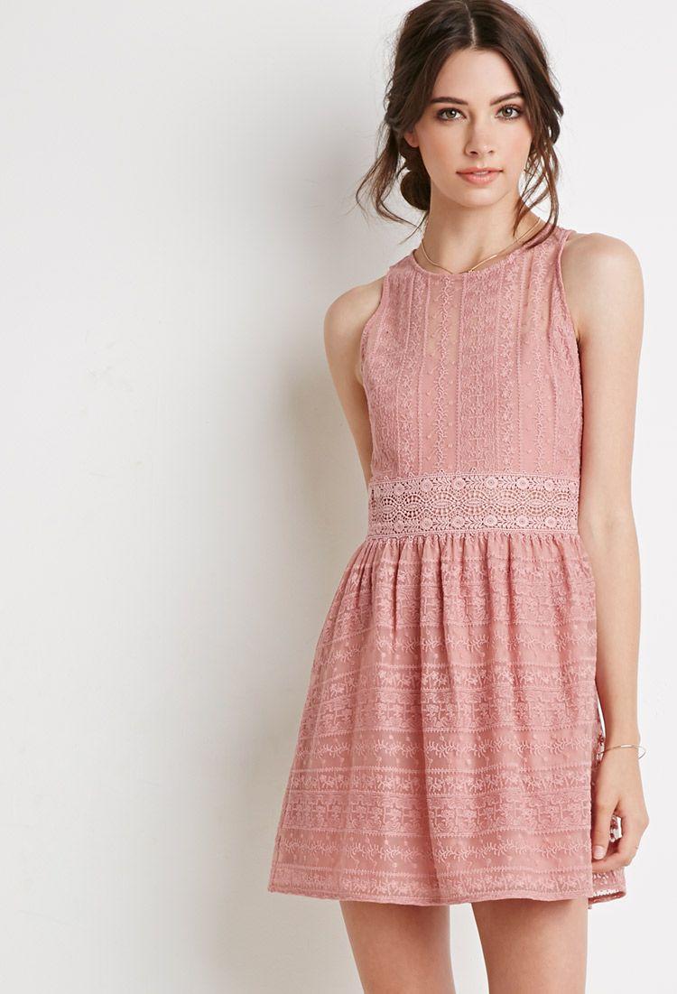 Ornate Embroidered-Mesh Dress | Forever 21 - 2000076975 ...