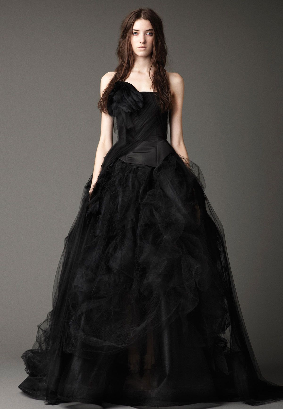 Gothic style wedding dresses  Inspiration for a Glamorous Purple and Black Gothic Style Wedding