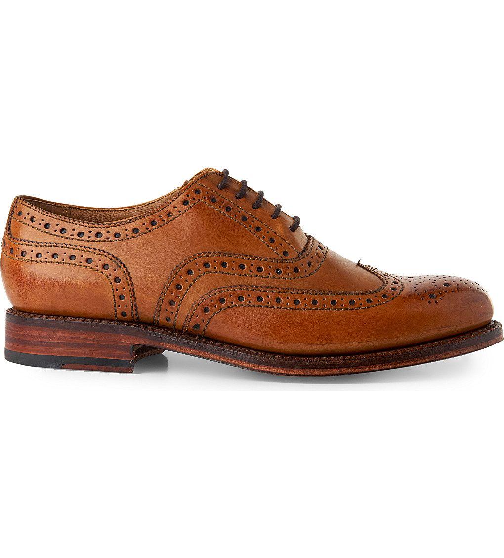 GRENSON - Stanley cuir wingtip Oxford chaussures : Chaussure Fashion