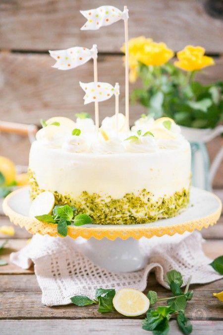 Lemon Curd Wickeltorte  Rezept  cakes  Torten Torten