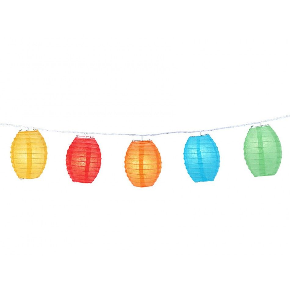 Large Rainbow Kawaii Shaped Lanterns String Lights - BULK [247 ...