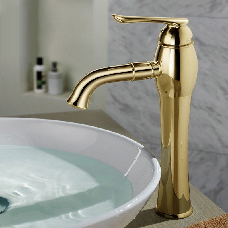 Koton Single Control Bathroom Vessel Faucet In Gold Or Chrome