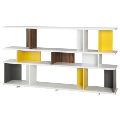 TOO By Blu Dot Stories Bookcase   White/Yellow/Walnut/Gray   On Clearance  Sale For $124.98 At Target