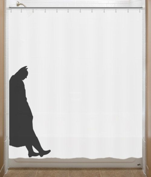 Leaning Batman Shower Curtain bathroom decor bath kids New Yellow ...