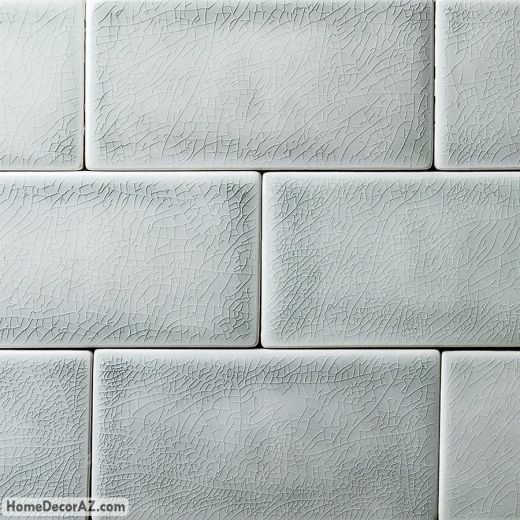 Soho Studio Baroque Crackled Series Sky 3x6 Subway Glass Tile Hdaz Crackle Tile Ceramic Subway Tile Ceramic Tiles