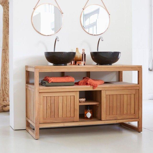 Meuble Salle de bain en bois de teck 120 Colonial Colonial
