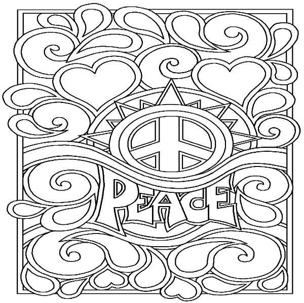 Super Cool Coloring Pages Peace Sign Coloring Pages Printable Enjoy ...