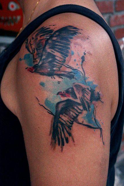 Vulture Tattoo Watercolor Tattoo Watercolor Bird Tattoo Tattoos