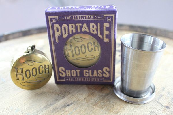 Is it a pocket watch or a shot glass?  The Time to Drink portable shot glass is the perfect accessory for any Victorian gentleman.