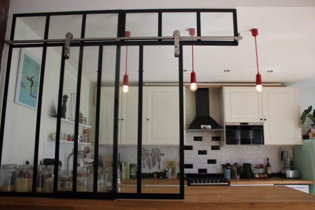Verrière coulissante de cuisine - Verrière d\u0027intérieur atelier - AKR