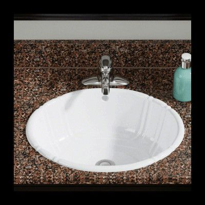 Polaris Sinks Porcelain Oval Vessel Bathroom Sink Sink Finish White Drop In Bathroom Sinks