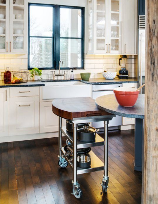 A Kitchen Island With Moving Parts
