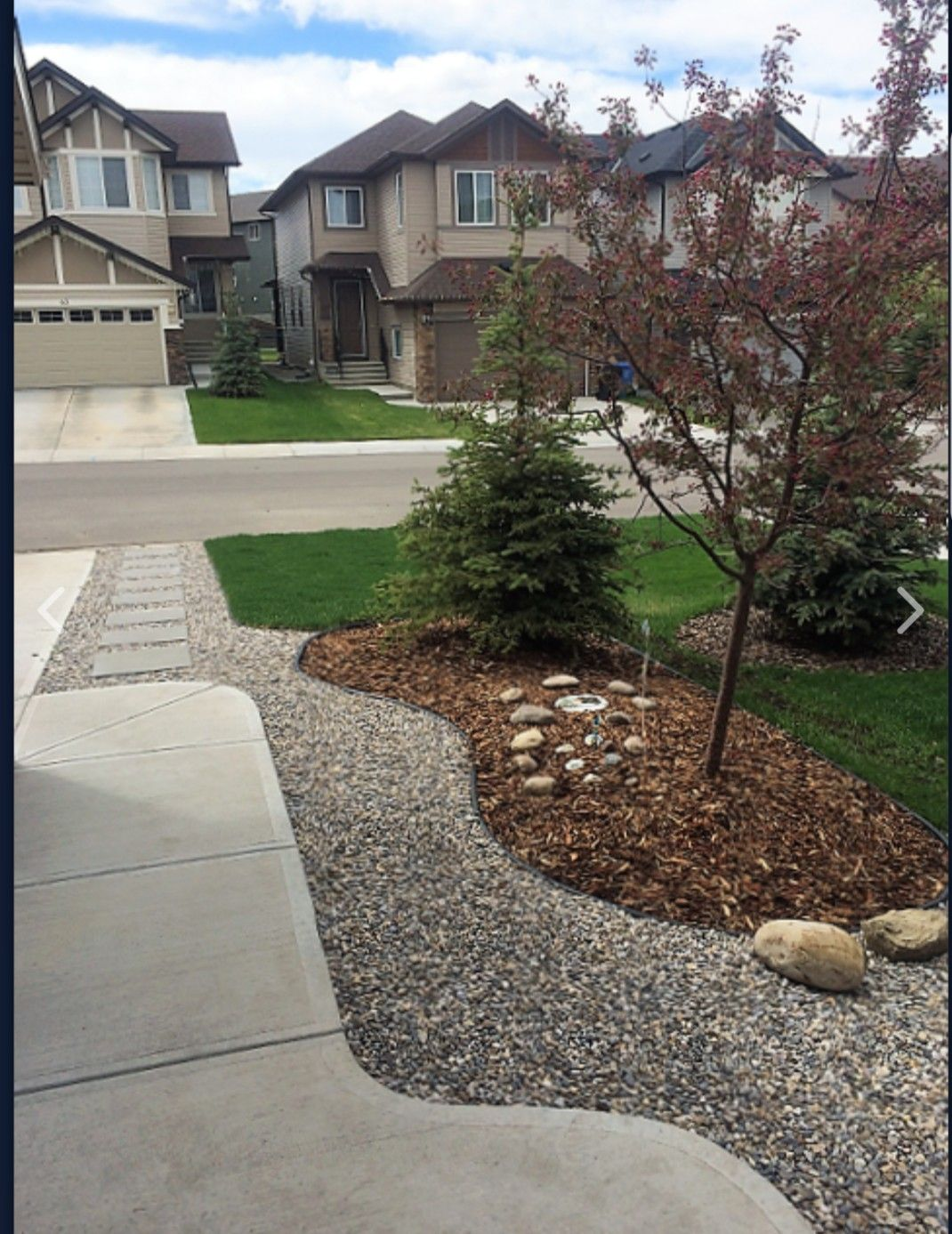 Front Yard Just No Grass Maybe Fake Or Continue Multch Small