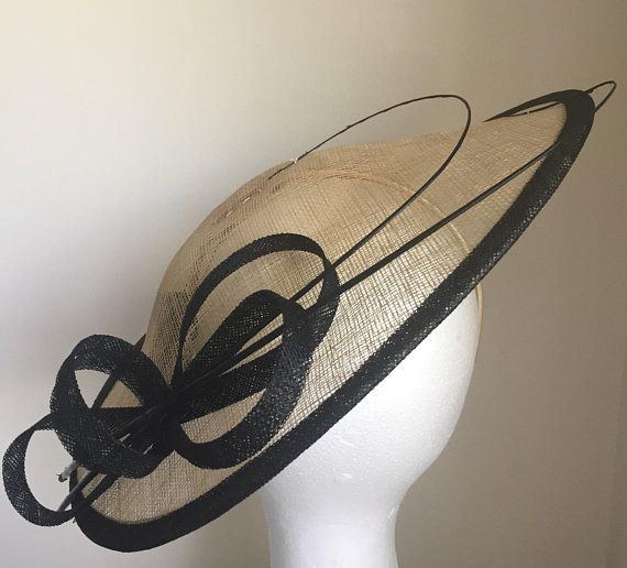 TheHeadwearBoutique on Etsy ( 49 USD) - Lydia Champagne and Black Saucer  Fascinator 8b19ad785bb