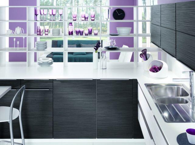 Noir et blanc habillent la cuisine !