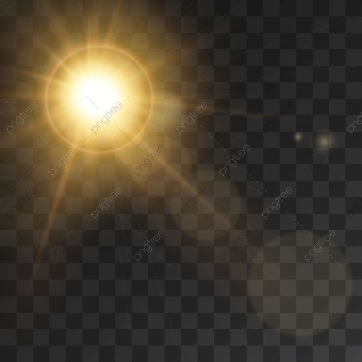 Sunlight Rays Effect With Lens Flare Effect Illustration Background Light Vector Png And Vector With Transparent Background For Free Download Lens Flare Effect Lens Flare Lense Flare