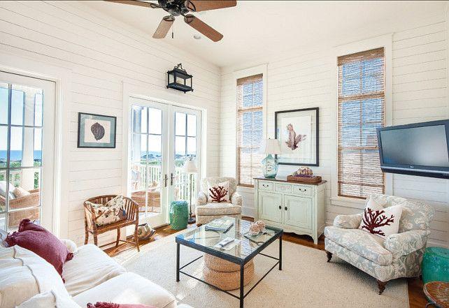 #Coastal Family Room. Great coastal decor!