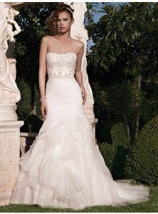 Organza Trumpet Mermaid Wedding Dress