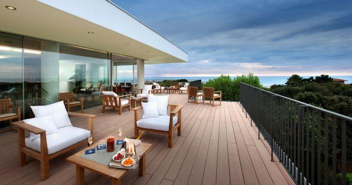 Wohnideen Terasse eine exotische terrasse terrassen ideen bilder viel platz zum