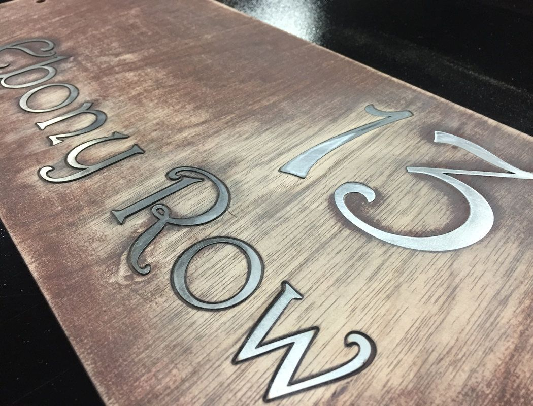 Rustic Stained Marine Plywood with Inlayed Laser Cut