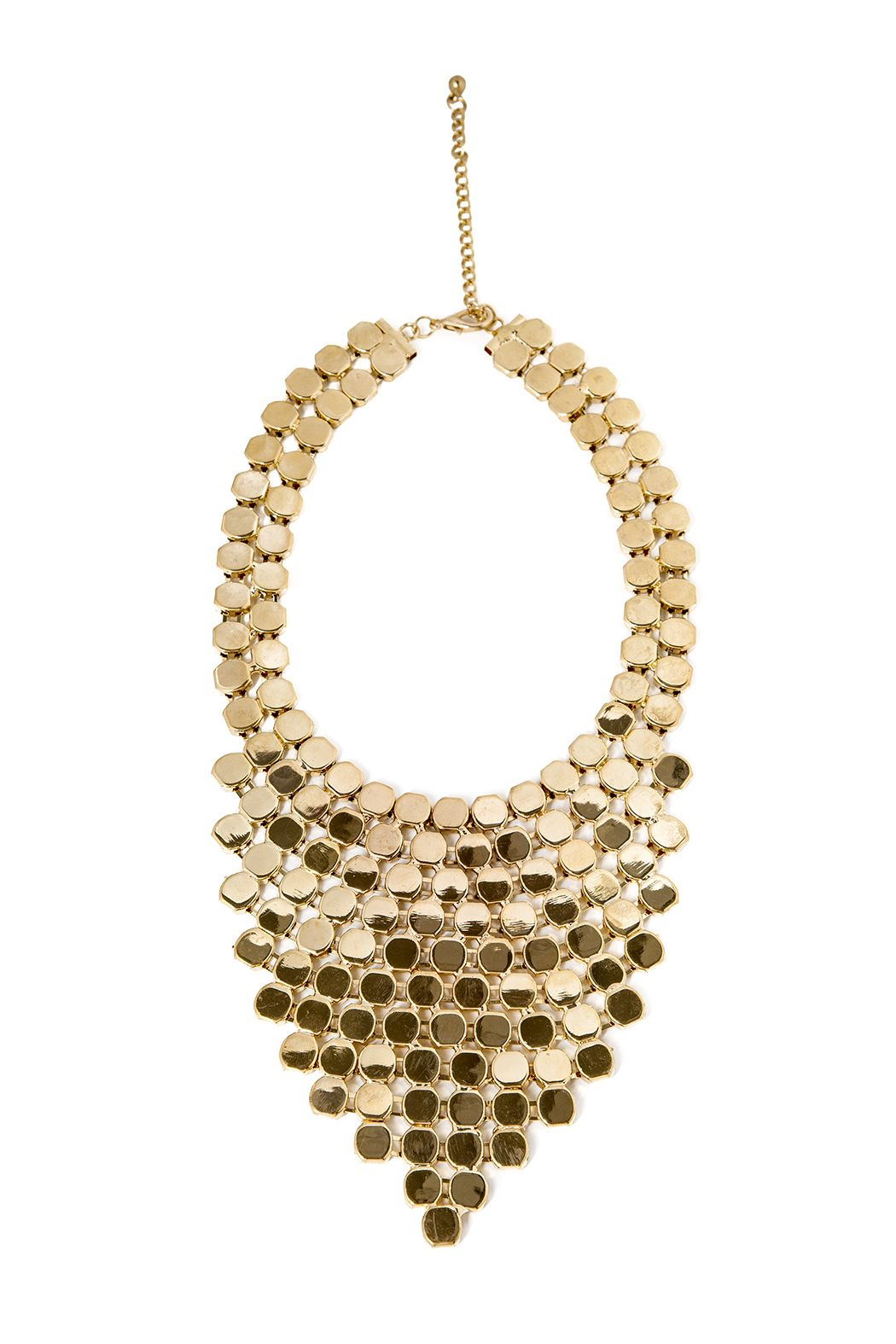 Gold chandelier necklace edgy chic bibs and statement necklaces gold chandelier necklace aloadofball Choice Image