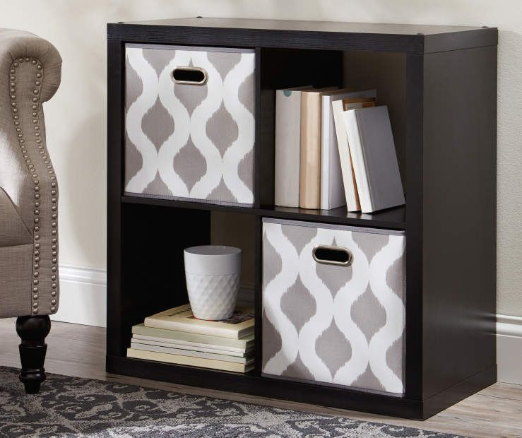 Stratford Black 4 Cube Storage Cubby Cubby Storage Cube Storage Big Lots Furniture
