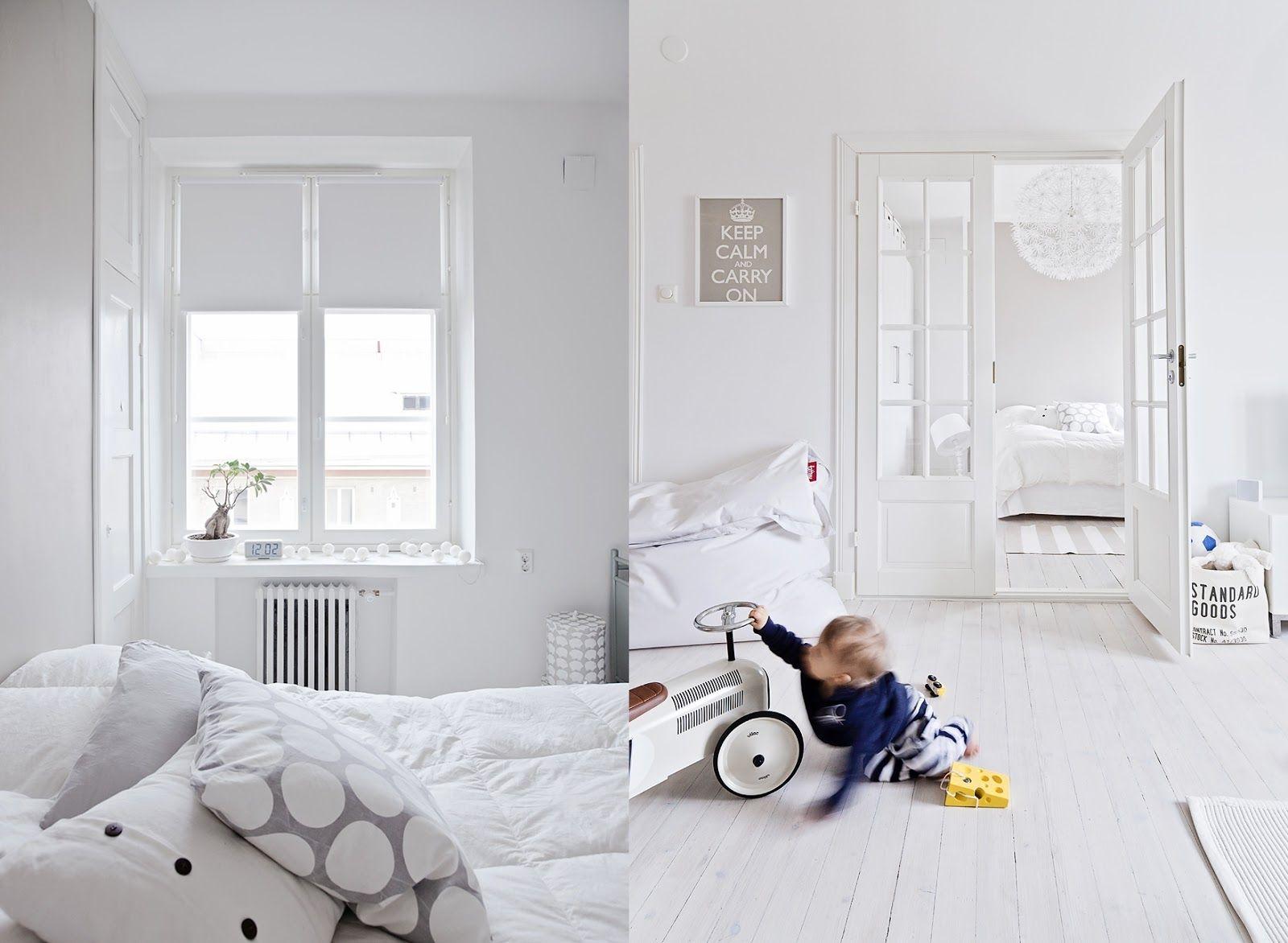 Pure white interior adorable home