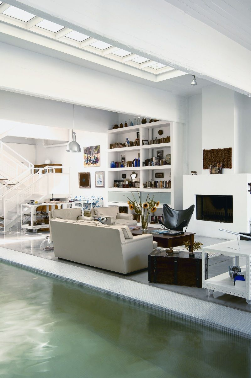 Superbe Indoor Pool House   Iu0027m Sure No Kids Can Swim There With The Furniture
