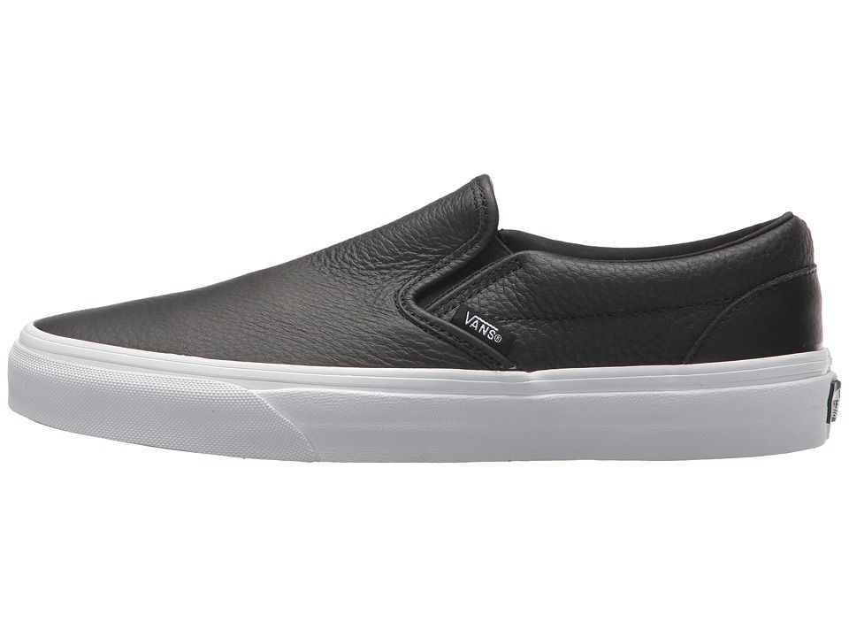 Vans Classic Slip On DX Skate Shoes (Tumble Leather) Black
