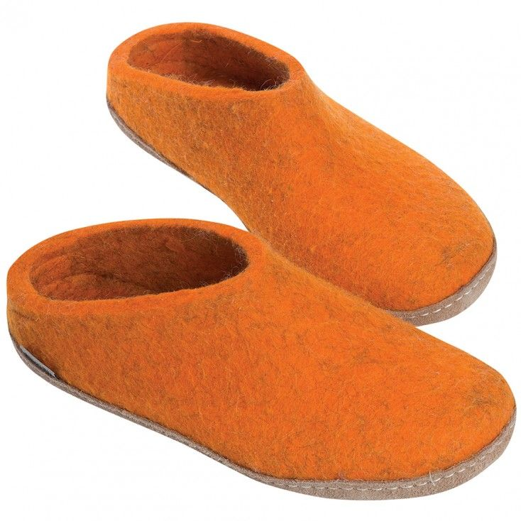 Glerups Felt Mule Orange Hus Hem Scandinavian Design For The House And Home Slippers House Shoes How To Make Shoes