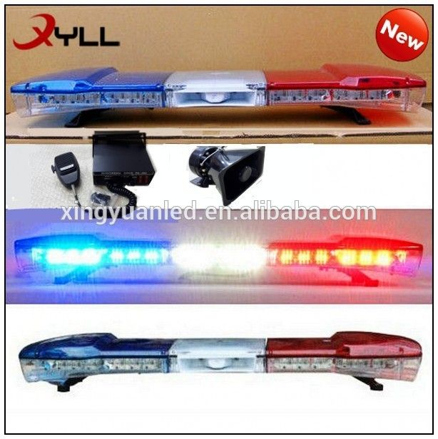 Wholesale Led Police Lights Police Light Bar With Horn And Siren For Sale 100w 150w 200w 300w Led Safety Lightbar Police Light Bars Police Lights Bar Lighting