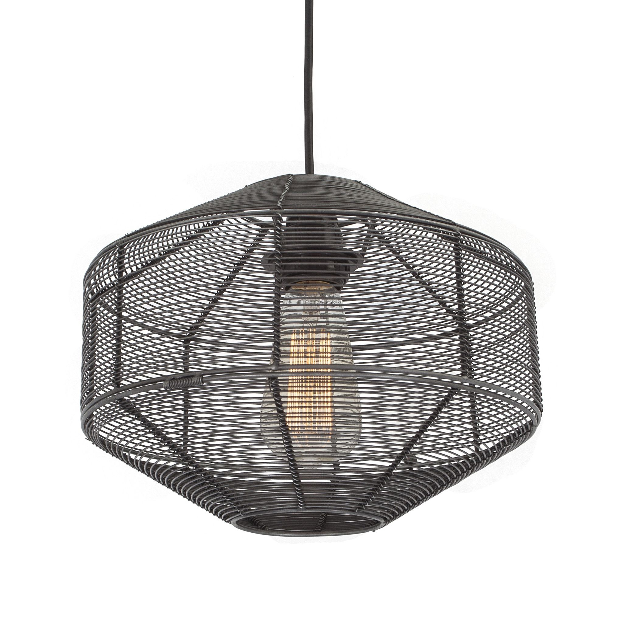 Pad lifestyle soho round wire cage pendant light add a unique
