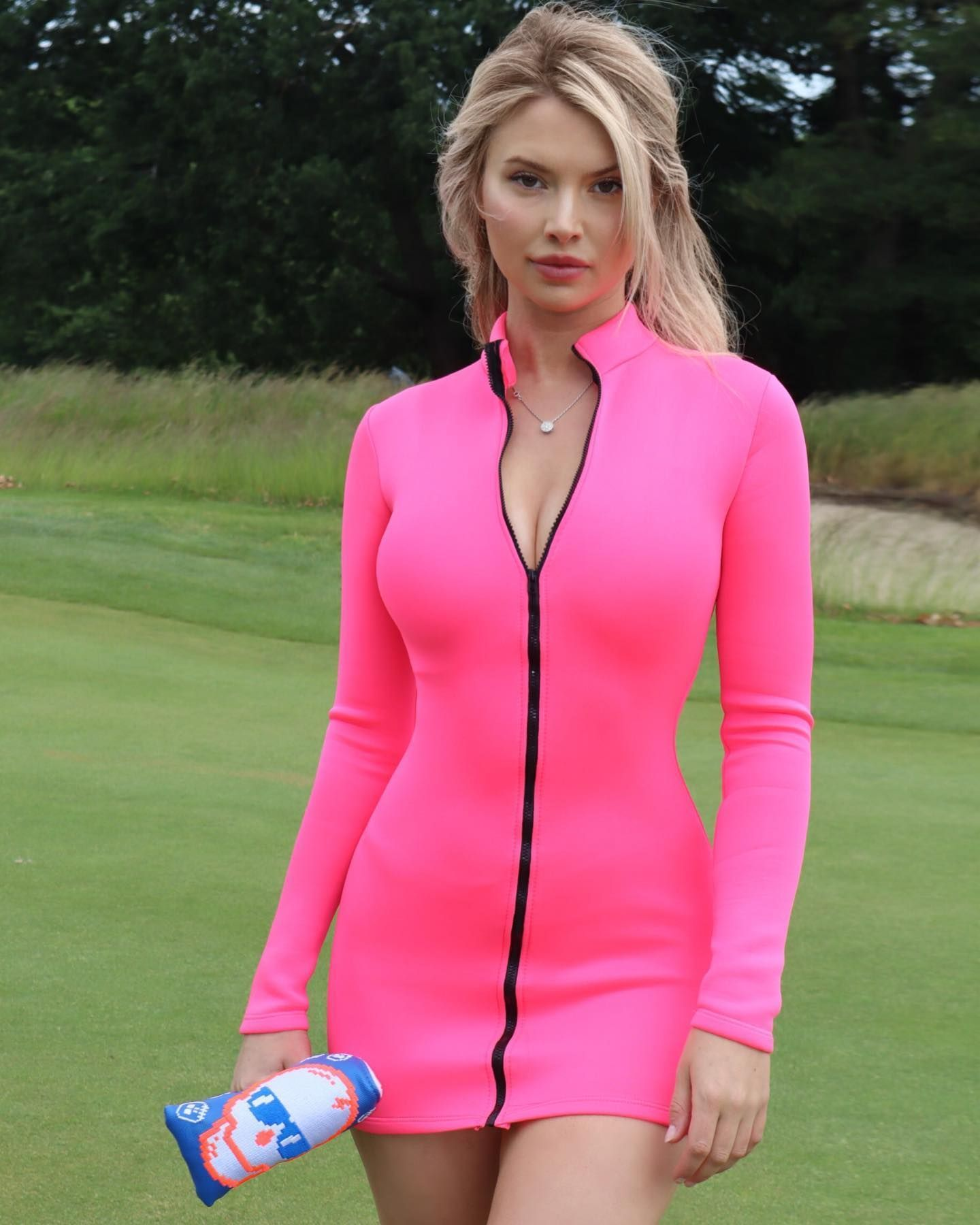Lucy Robson pink dress