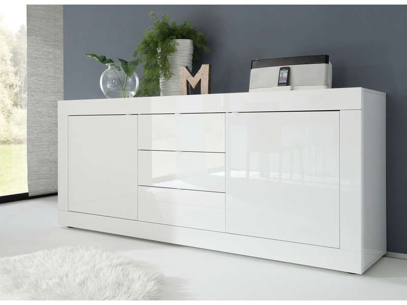 Credenza Conforama : Buffet topic coloris blanc conforama sideboard