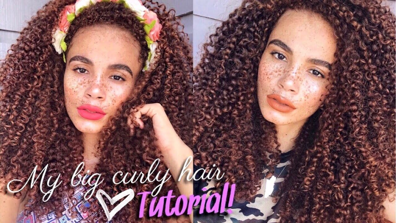 My big curly hair routine air dry in hour curly hair