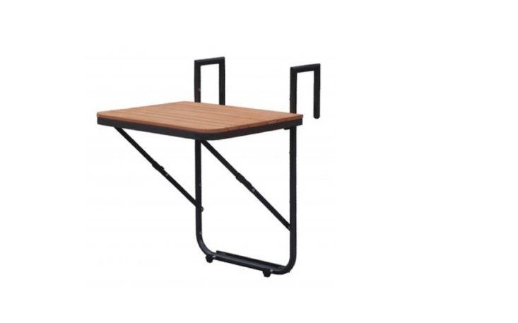 10 Easy Pieces: Balcony Tables for Railings - Garden furniture #kleiner Garten #kleiner Garten kinderfreundlich #narrowbalcony