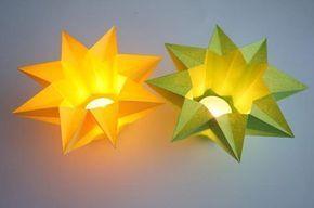 Windlicht Stern - Sonstige Sterne | Sterne Basteln - Basteln toller Sterne #weihnachtsdekobasteln