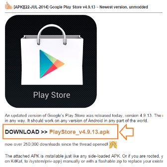 Google Play Store on Xiaomi Mi3, Mi4, Redmi 1S