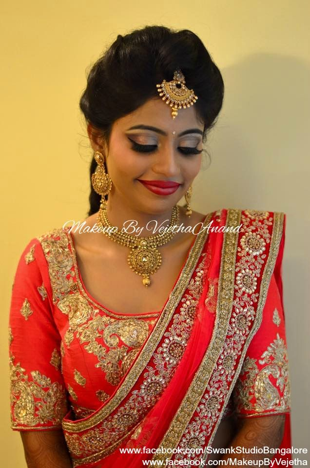 Indian Bride Keerthi Wears Bridal Lehenga And Jewelry For Her Reception Makeup And Hairstyle By