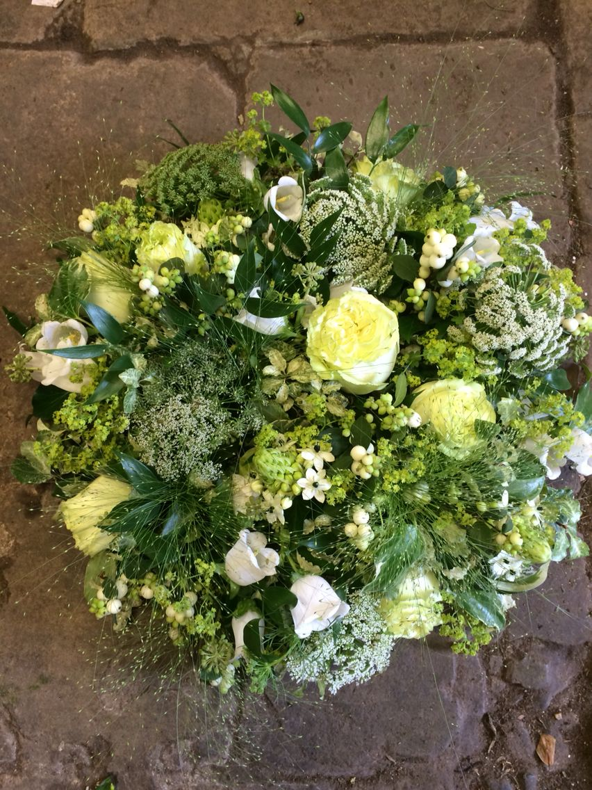 A Fresh Green Garden Posy Pad With Lots Of Texture For Rememberance
