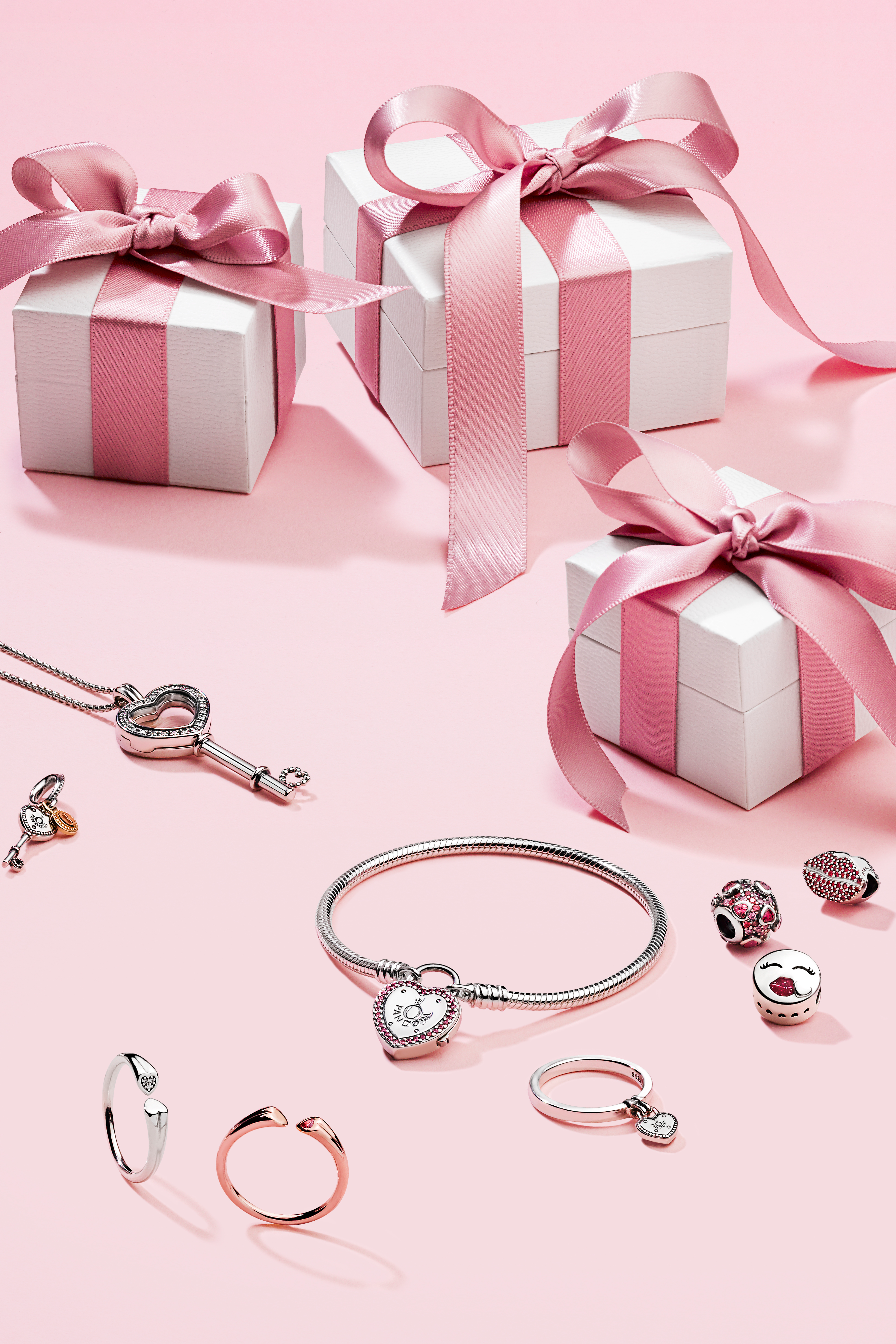Express your love through sweet charms and rings featuring stunning ...