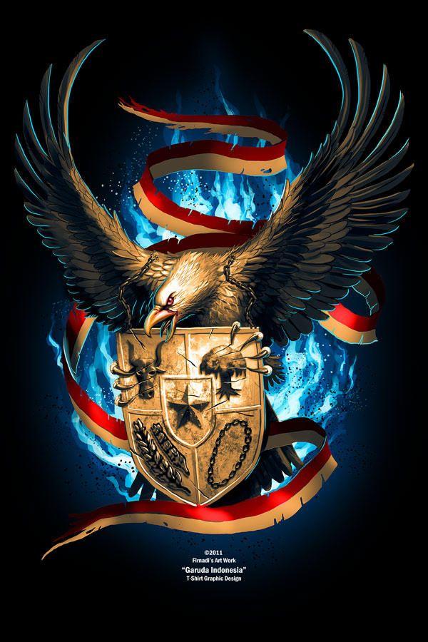 Garuda Vector Art : garuda, vector, Mighty, Garuda, Firnadi, Lambang, Negara,, Lukisan, Galaksi,, Graffiti
